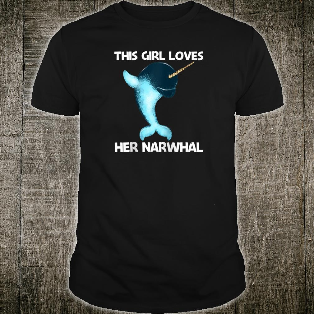 Cute Narwhal Design For Girls Whale Arctic Oceans Shirt