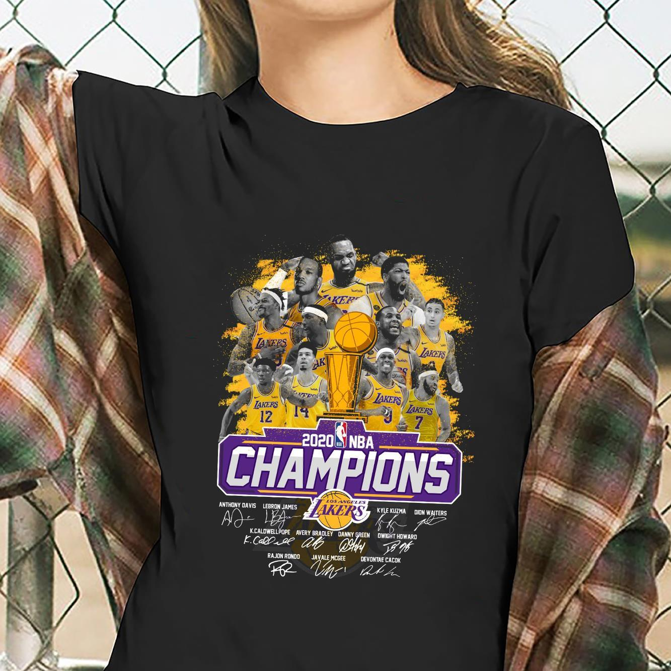 Los Angeles Lakers Is The Champions NBA 2020 Shirt ladies tee